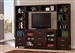 4 Piece Entertainment Center in Cappuccino Finish by Coaster - 700881-4