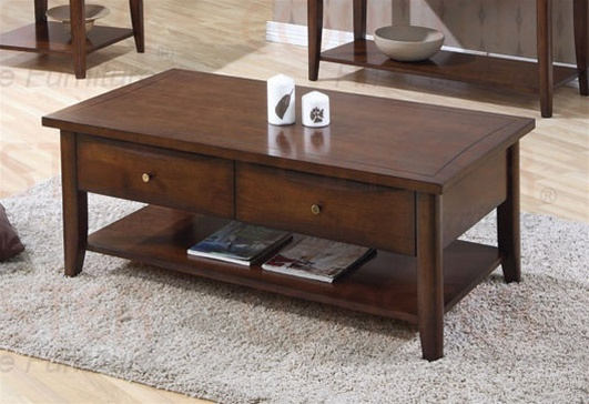Occasional Coffee Table in Walnut Finish by Coaster 700958