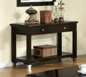 Sofa Table In Rich Dark Brown Walnut Finish Coa 701199