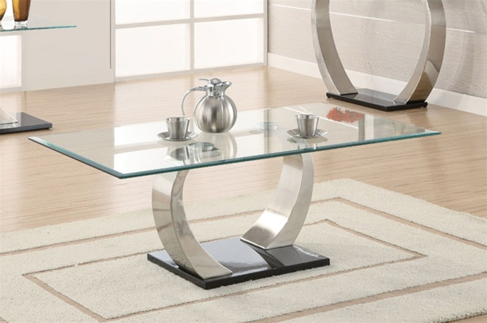 - Glass Top Coffee Table By Coaster - 701238