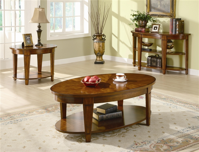 oval lift top coffee table in cherry finishcoaster - 701308