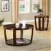 Round Coffee Table in Rich Cherry Finish by Coaster - 701318