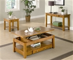 Coffee Lift Top Table in Oak Finish by Coaster - 701438