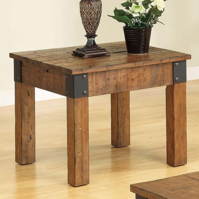 Distressed Country Wagon 2 Piece Occasional Table Set By Coaster   701458