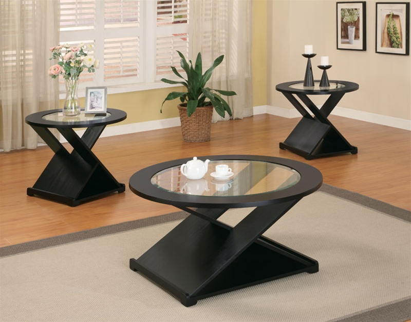 3 piece x style occasional table setcoaster - 701501