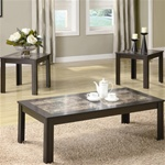 Faux Marble 3 Piece Occasional Table Set by Coaster - 701535