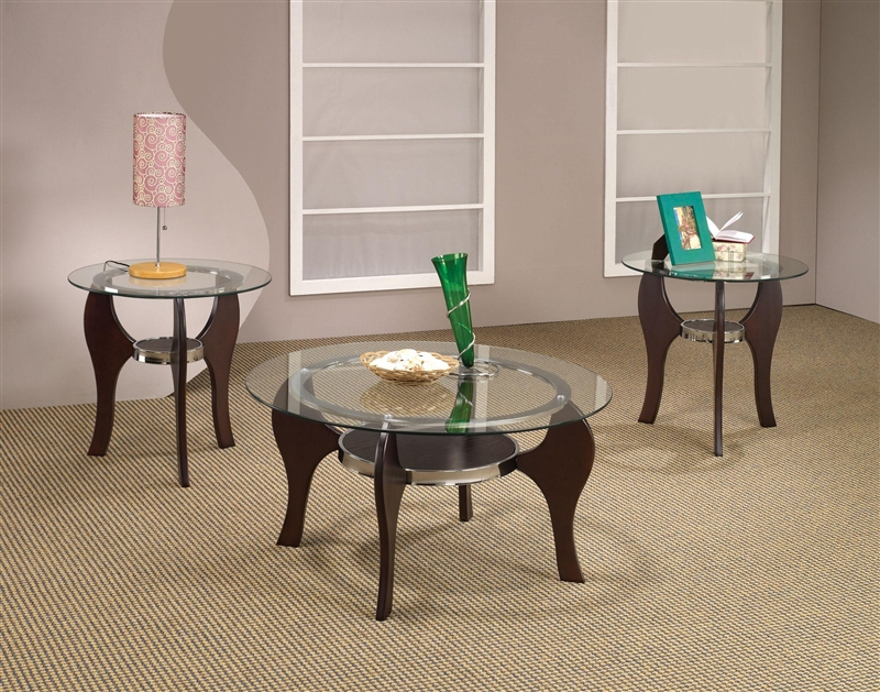 & Round Top 3 Piece Occasional Table Set by Coaster - 701571