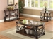 Ornate Coffee Table in Deep Merlot Finish by Coaster - 702448