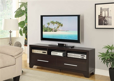 60 Inch TV Console in Cappuccino Finish by Coaster - 703301