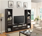 3 Piece Entertainment Center in Cappuccino Finish by Coaster - 703301-3