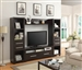 4 Piece Entertainment Center in Cappuccino Finish by Coaster - 703301-4
