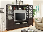 4 Piece Entertainment Center in Cappuccino Finish by Coaster - 703311-4