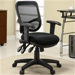 Black Mesh Fabric Office Chair by Coaster - 800019