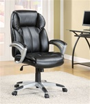 Black Vinyl Office Chair by Coaster - 800038