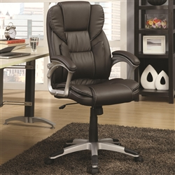 Dark Brown Office Task Chair with Lumbar Support by Coaster - 800045