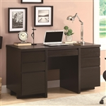 Computer Desk in Cappuccino Finish by Coaster - 800125