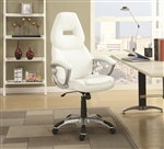 Office Chair in White Leatherette by Coaster - 800150