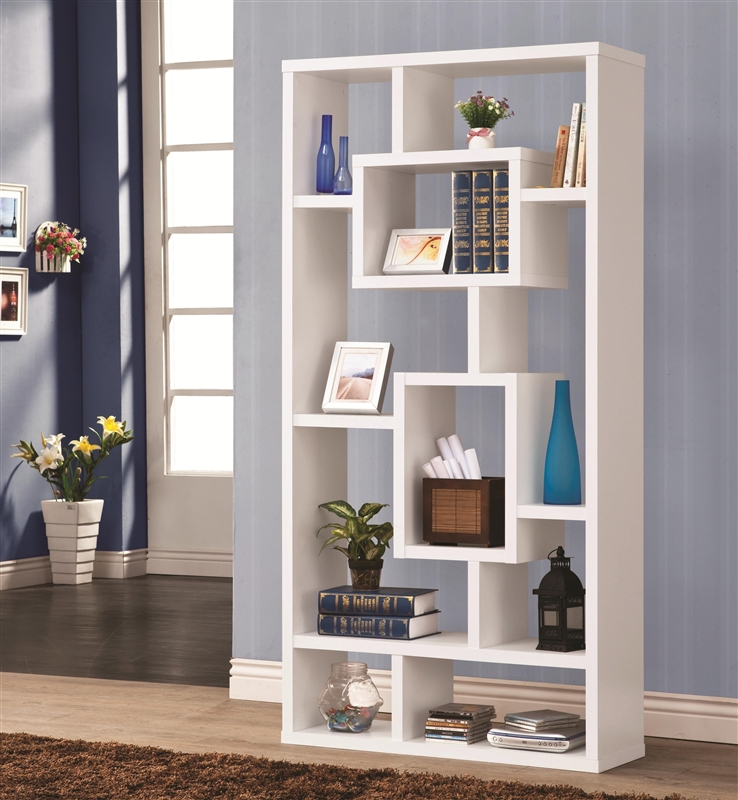 Wall Unit Bookcase In White Finish By Coaster   800157