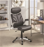 Office Chair in Grey Leatherette by Coaster - 800164