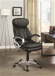 Office Chair in Black Leatherette by Coaster - 800165