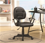 Office Chair in Black Leatherette by Coaster - 800178