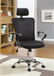Black Mesh Fabric Office Chair by Coaster - 800206