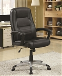 Black Fabric Executive Office Chair by Coaster - 800209