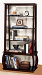 Bookcase in Cappuccino Finish by Coaster - 800239