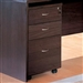 Decarie Mobile File Cabinet in Rich Dark Finish by Coaster - 800254