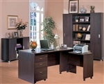 Decarie 5 Piece Home Office Set in Rich Dark Finish by Coaster - 800255S5