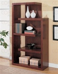 Semi-Backless Bookcase in Warm Cappuccino Finish by Coaster - 800256