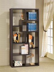 Bookcase Display Cabinet in Cappuccino Finish by Coaster - 800264
