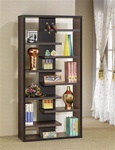 Bookcase Display Cabinet in Cappuccino Finish by Coaster - 800265