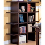Home Office Bookcase in Wood Grain Finish by Coaster - 800273