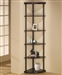 Corner Bookshelf in Dark Finish by Coaster - 800279