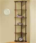 Corner Bookshelf in Medium Finish by Coaster - 800280