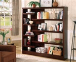Semi-Backless Bookcase Console in Cappuccino Finish by Coaster - 800288