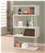 White and Glass Bookcase Display Cabinet by Coaster - 800300