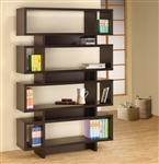 Contemporary Four Tier Open Bookcase in Cappuccino Finish by Coaster - 800307