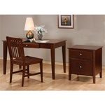3 Piece Home Office Set in Cappuccino Finish by Coaster - 800311S