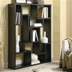 Cappuccino Asymmetrical Bookshelf by Coaster - 800316