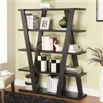 Cappuccino Modern Bookshelf with Inverted Supports & Open Shelves by Coaster - 800318