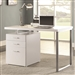 Reversible Writing Desk with File Drawer in White Finish by Coaster - 800325