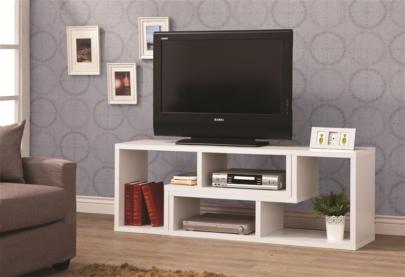 design it you way white bookcase tv stand by coaster 800330. Black Bedroom Furniture Sets. Home Design Ideas