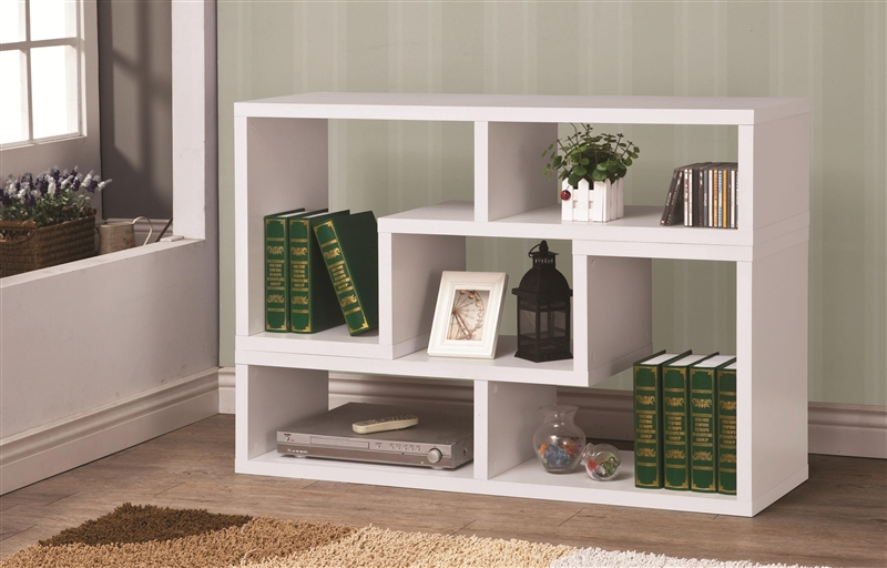 Ideal Design It You Way White Bookcase TV Stand by Coaster - 800330 HI05