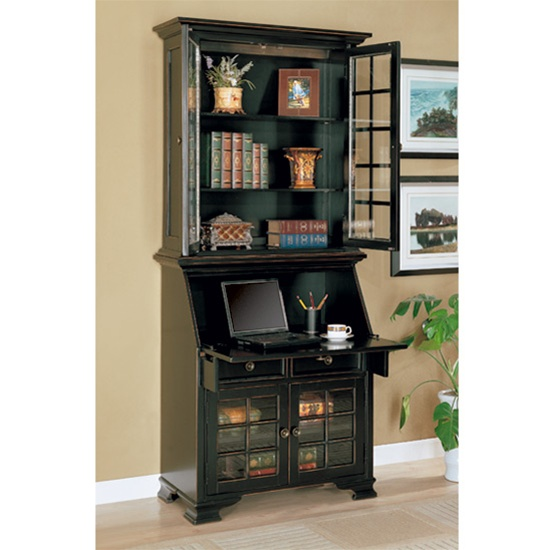 product height victorian desk secretary hutch aspect bookcase image width of or fit antique