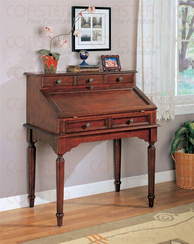 Secretary Desk In Cherry Finish By Coaster 800371