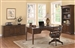 Paterson 3 Piece Home Office Set in Walnut Finish by Coaster - 800466-S