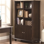 Jacqueline Bookcase in Cappuccino Finish by Coaster - 800475