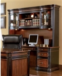 Two-Toned Grand Style Home Office Computer Desk with Hutch by Coaster - 800500